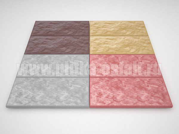 фасадная плитка 270*127 цветная