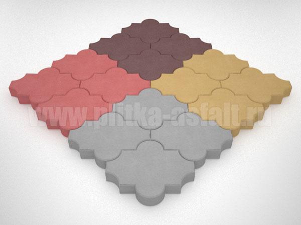 плитка клевер гладкий цветная