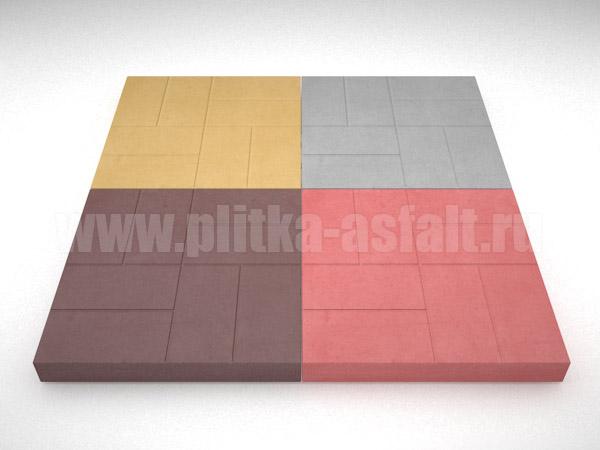 плитка 8-кирпичей цветная