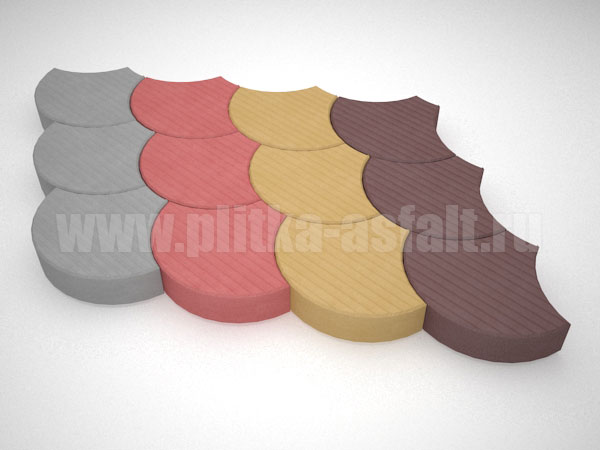 плитка чешуя цветная