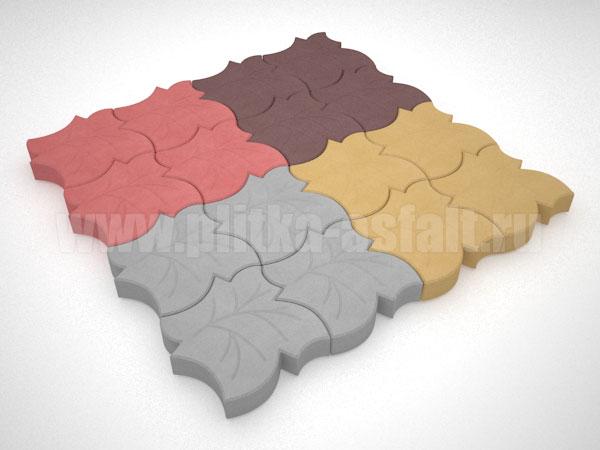плитка клен цветная