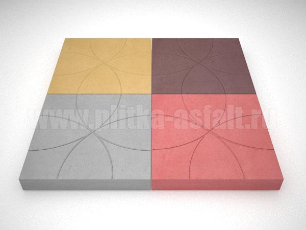 плитка радиус цветная