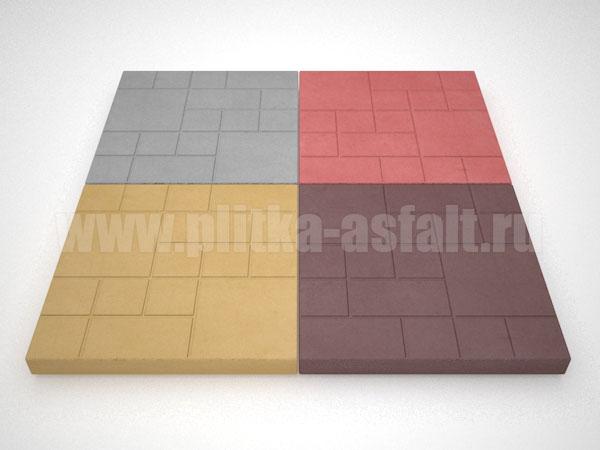 тротуарная плитка шоколадка цветная
